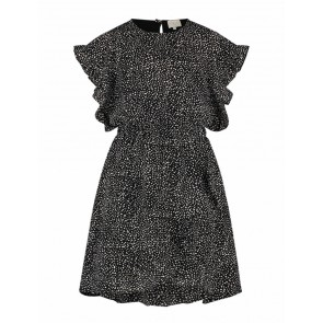 AI&KO kids girls dress jurk Brylee dot dress jurk met ruches in de kleur zwart