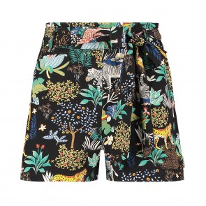 AI&KO kids girls Mesda safari short met riem in de kleur multicolor