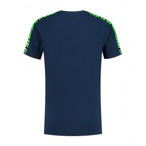 Malelions junior kids homekit t-shirt met logo print in de kleur donkerblauw