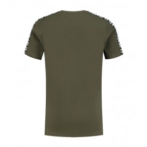 Malelions junior kids homekit t-shirt met logo print in de kleur army green groen