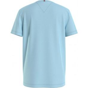Tommy Hilfiger kids boys t-shirt flag insert tee in de kleur lichtblauw