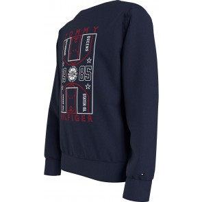Tommy Hilfiger kids boys glow in the dark sweater trui in de kleur donkerblauw