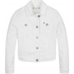 Tommy Hilfiger kids girls regular trucker jacket in de kleur bright white