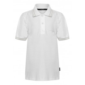 Airforce kids boys polo shirt met bies in de kleur wit