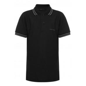 Airforce kids boys polo shirt met bies in de kleur zwart