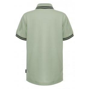 Airforce kids boys polo shirt met bies in de kleur army green