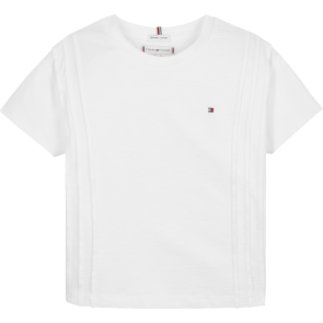 Tommy Hilfiger kids girls shirt slub knit top in de kleur wit