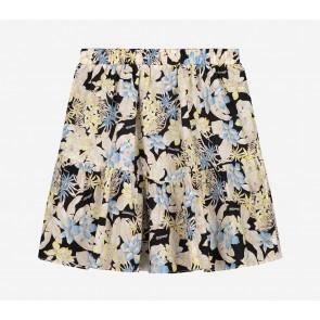 Nik en Nik kids girls zimra flower skirt in de kleur muliticolor/zwart