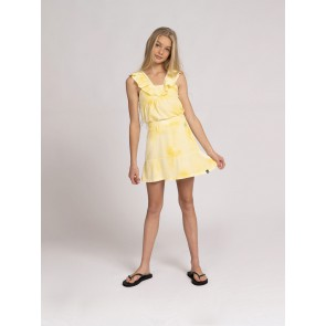 Nik en Nik girls sabrina tie dye top in de kleur geel