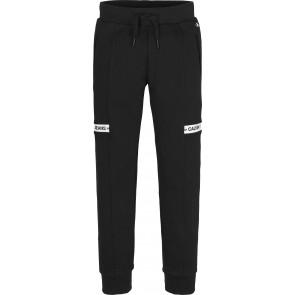 Calvin Klein kids boys intarsia sweat broek in de kleur zwart