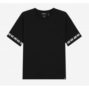 Nik en Nik kids girls Regan t-shirt in de kleur zwart
