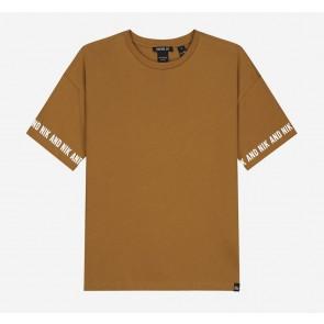 Nik en Nik kids girls Regan t-shirt in de kleur mustard brown