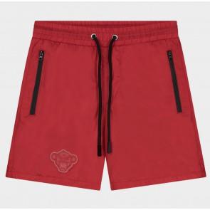 Black Bananas junior jr patchy swimshort zwembroek in de kleur rood
