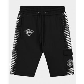 Black Bananas junior jr hexagon short korte broek in de kleur zwart/wit