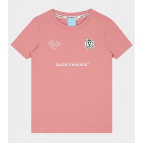 Black Bananas junior jr fc basic tee shirt in de kleur zalmroze