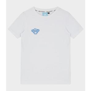 Black Bananas junior jr reflective universe tee shirt in de kleur wit/blauw