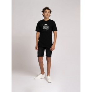 Nik en Nik boys Roel t-shirt in de kleur black zwart