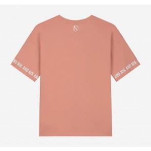 Nik en Nik kids girls Regan t-shirt in de kleur pretty salmon zalmoranje