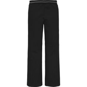 Calvin klein jeans kids intarsia waistband punto pants in de kleur zwart