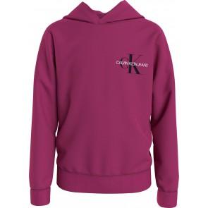 Calvin klein jeans kids uniseks hoodie sweater trui in de kleur fuchsia roze