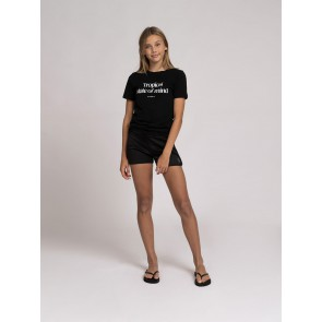 Nik en Nik girls tropical t-shirt in de kleur black zwart