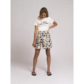 Nik en Nik girls tropical t-shirt in de kleur off white