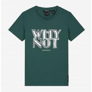 Nik en Nik girls why not t-shirt in de kleur deep water green groen