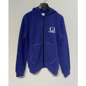 CP Company undersixteen kids sweatshirt goggle hoodie vest  in de kleur paars/blauw