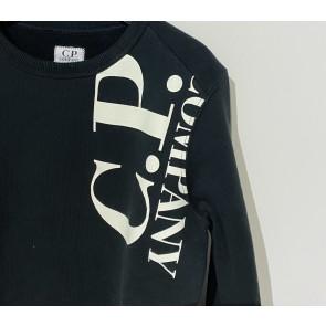 CP Company undersixteen kids crew neck sweater trui in de kleur zwart