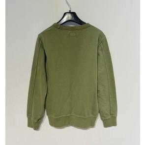 CP Company undersixteen kids sweatshirt crew neck dunne sweater in de kleur army green