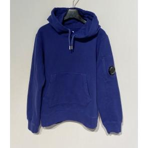 CP Company undersixteen kids sweatshirt hooded basic fleece trui in de kleur paars/blauw