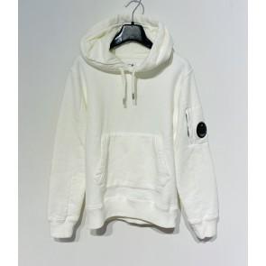 CP Company undersixteen kids sweatshirt hooded basic fleece trui in de kleur off white