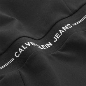 Calvin klein kids girls intarsia waist punto dress jurk in de kleur zwart