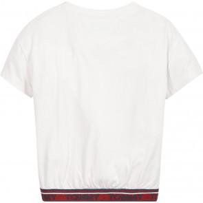 Tommy Hilfiger kids girls tommy lurex rib top in de kleur wit
