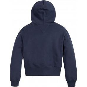 Tommy Hilfiger kids girls essential varsity hoodie sweater in de kleur donkerblauw