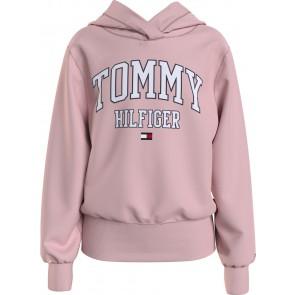 Tommy Hilfiger kids girls essential varsity hoodie sweater in de kleur zachtroze
