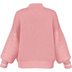 Tommy Hilfiger kids girls cable sweater gebreide trui in de kleur zachtroze