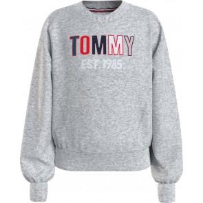 Tommy Hilfiger kids girls sweater trui tommy toweling sweatshirt in de kleur grijs