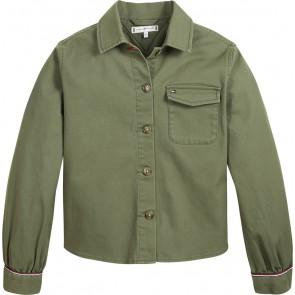 Tommy Hilfiger kids girls kids cargo shirt jasje in de kleur army green groen
