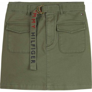 Tommy Hilfiger kids girls kids cargo skirt rok in de kleur army green groen