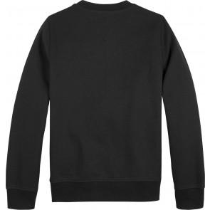 Tommy Hilfiger kids boys embossed sweatshirt sweater in de kleur zwart