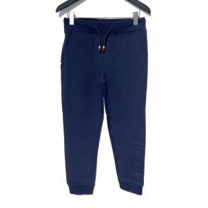 Tommy Hilfiger kids boys embossed sweatpants broek in de kleur donkerblauw