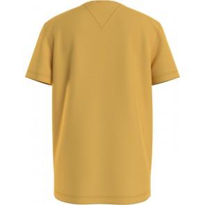 Tommy Hilfiger kids boys embossed t-shirt met logo in de kleur okergeel