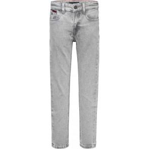 Tommy Hilfiger kids boys scanton slim jeans broek in de kleur lichtgrijs