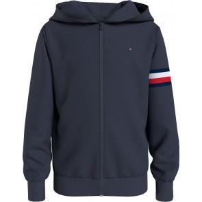 Tommy Hilfiger kids boys embossed zip through vest in de kleur donkerblauw