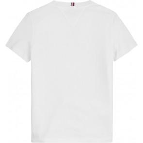 Tommy Hilfiger kids boys logo t-shirt in de kleur wit