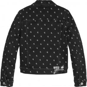 Calvin Klein kids girls mini monogram denim jacket jasje in de kleur zwart