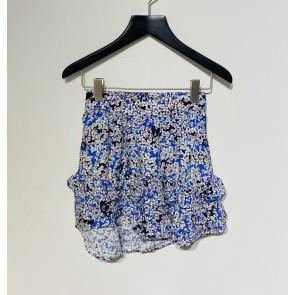 Zadig en Voltaire viscose rok met bloemenprint in de kleur blauw