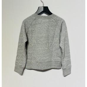 Zadig en Voltaire kids girls sweater trui met glitter steentjes in de kleur grijs