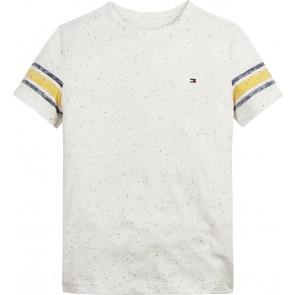 Tommy Hilfiger kids boys varsity t-shirt in de kleur gemêleerd creme